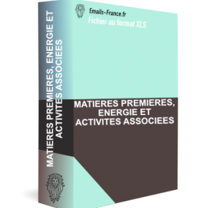 MATIERES PREMIERES, ENERGIE ET ACTIVITES ASSOCIEES