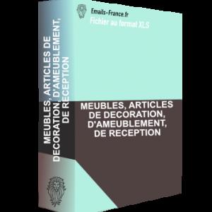 MEUBLES, ARTICLES DE DECORATION, D'AMEUBLEMENT, DE RECEPTION